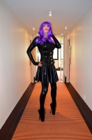 Total Latex Enclosure and Ballet Boots in Hotel