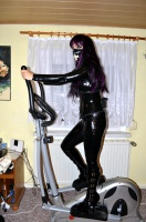 In Latex on the crosstrainer