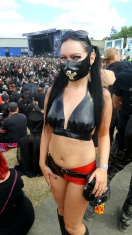 Kitty Klatsch in Latex at Mera Luna Festival