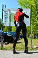 Kitty in Latex at romantic castel Sanssouci