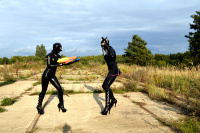 2 Rubberdolls with Water Pistols