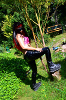 Sexy as in PVC Pants in the Garden