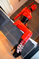 Heavy Rubber Enclosure in red Latex