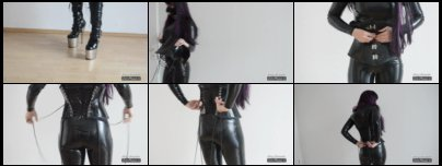 Corset Lacing Tutorial while wearing latex catsuit and plateau boots