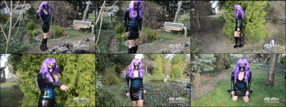 Latex Girl enjoys the Spring